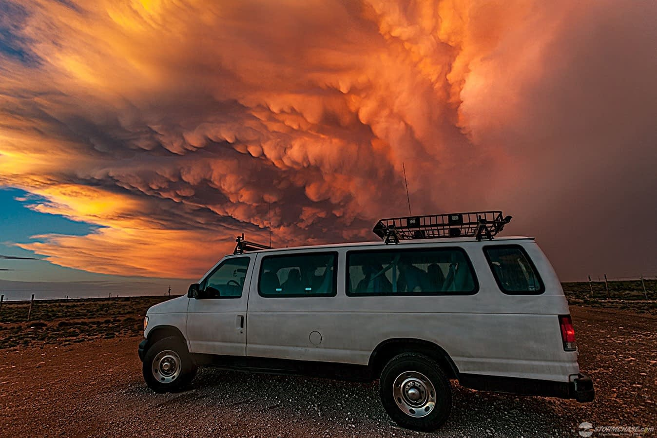 storm chasing sunset