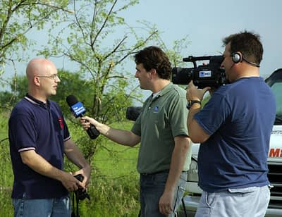 weather channel interviews storm chaser Brian Barnes