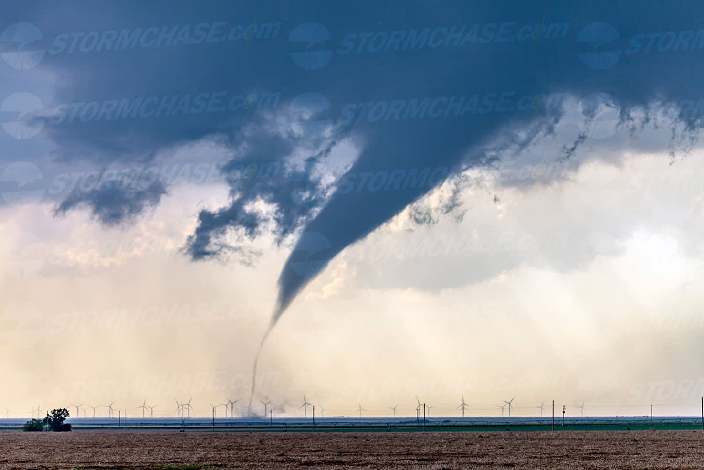 Tornado at wind farm